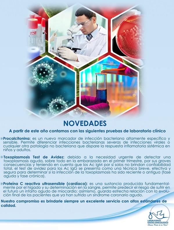 Nuevas pruebas en Laboratorios Centro Ginecológico