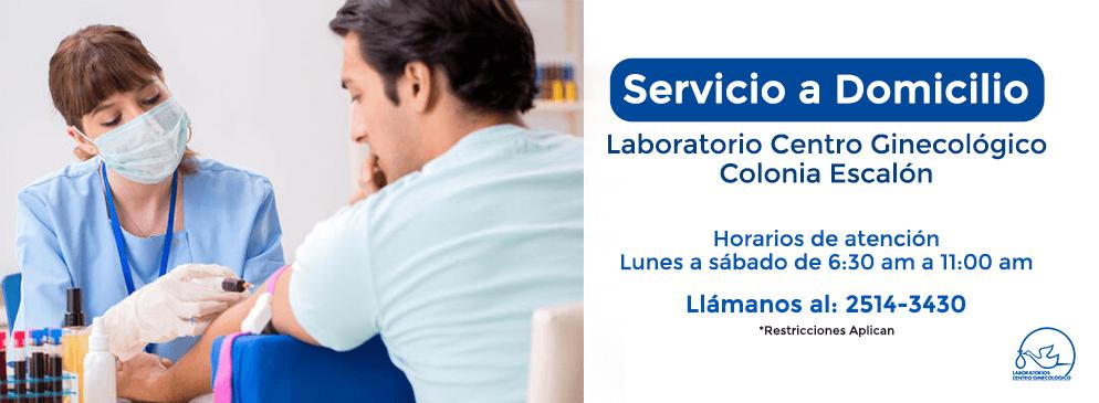 Servicio de Domicilio en Sucursal Escalón de Laboratorio Centro Ginecológico