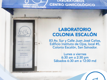 Servicio de Domicilio en Sucursal Escalón de Laboratorio Centro Ginecológico.