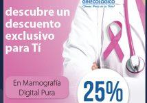 25% de descuento en Mamografia Digital Pura