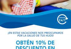 VACACIONES SEGURAS CON UN 10% DE DESCUENTO EN EXÁMENES DE LABORATORIO CLÍNICO