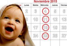 Calendario del 4to Ciclo de Charlas Prenatales